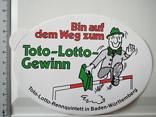 Adesivo Sticker TOTO LOTTO rennquintett Baden Wurtenberg (2978)