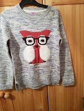Girls Jumper Age 9 -10 Owl Jumper F+f
