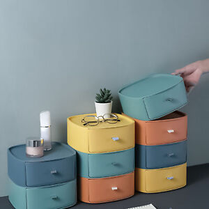 QUALITY PP STORAGE BOXES STACKABLE DRAWERS CONTAINER HOME DESKTOP ORGANIZATION