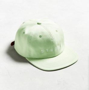STUSSY Mint Baseball Hat VERT GREEN BEANIE CLASSIC LOGO 6-PANEL CANVAS CAMP CAP