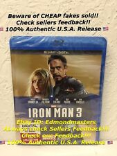 Iron Man 3 (Blu-ray Disc, 2017, Includes Digital HD) Brand New!