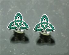 316L Stainless Steel Trinity Stone Post earrings