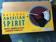 Vintage Natural American Spirit Tobacco Metal Sign