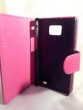 PINK WALLET PELLE CUSTODIA COVER TELEFONO SAMSUNG GALAXY S2 II GT-I9100 Plain