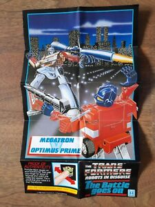 The 2nd Original Transformers G1 1980's 'The Battle Goes On' vintage poster.