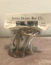 NEW Antique Drapery Rod Co. Medallion Bracket Pair Antique Gold ADR