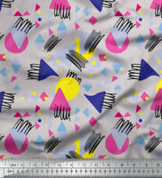 Soimoi Fabric Circle & Triangle Geometric Fabric Prints By Meter-GMD-581H
