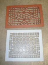 2 different sandblasted & primer Antique Cast Iron floor grates Heating