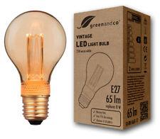 greenandco Vintage LED Lampe E27 A60 2W 65 lm 1800K warmweiß Retro Birne