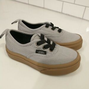 Vans Shoes Toddler size 10.5 Gray Off The Wall youth child skater