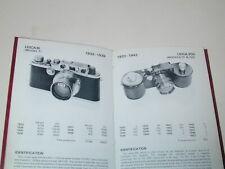 LEITZ LEICA pocket book CATALOGUE appareils photo et objectifs 1980 photographie