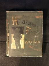 Adventures of Huckleberry Finn by Mark Twain (HB 1885) FIRST EDITION Later State