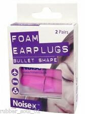 Noise-X Foam Bullet Ear Plugs x 2 Pairs