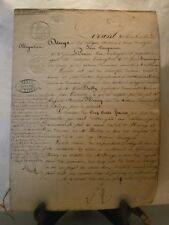 Acte notarié généralité Nancy 1860 obligation de 500 fr Tomblaine nancy Lorraine