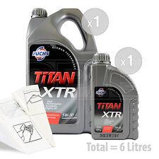 Car Engine Oil Service Kit / Pack 6 LITRES Fuchs TITAN XTR 5w-30 6L