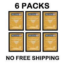 WINE YEAST 6 PK RS CHAMP PASTEUR CHAMPAGNE FOR CIDER SODA FRUIT MOONSHINE