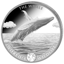 CONGO 20 Francs Argent 1 Once Baleine 2020 World's Wildlife