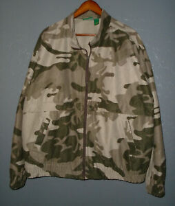 CABELAS Camouflage Hunting Jacket VINTAGE 90s Full Zip Camo Canada Mens 2XL