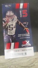 NEW ENGLAND PATRIOTS VS. LOS ANGELES CHARGERS  FULL TICKET-OCT.29.,2017