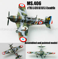 Easy model MS 406 French fighter aircraft 6 Escadrille 1/72 no diecast plane
