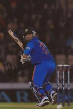 INDIA: AJINKYA RAHANE SIGNED 6x4 ACTION PHOTO+COA