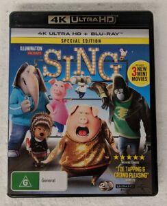 SING - 4K ULTRA HD + Blu-ray Region B oz seller 4K UHD HDR DVD