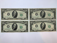 1950 $10 Federal Reserve Note Lot Of 4 VF XF+  Crisp! Lot #3