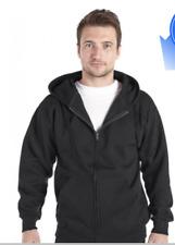 Blank Adults Zip Up Hoodies Unisex Ranks Plain Mens Womens Hoody