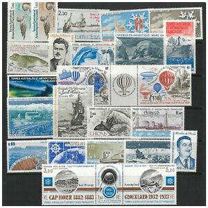 French Antarctic Territory 25 Different Stamps All Mint Unhinged MUH (3)