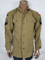 103rd Infantry Division Wool Enlisted Shirt WWII 4th Army Tech 14.5 x 33