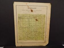 Iowa Madison County Map Madison Township  1912  Y12#20