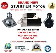 Para Toyota Avensis 2.0 TD D-4D 90/110/116 BHP 1999-2008 motor de arranque 9 dientes