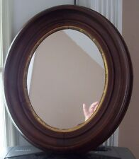 1800'S Oval Walnut Victorian Mirror-Paper Label H.P. Moore Concord,New Hampshire