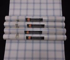 Blue Plaid White Background Wallpaper #Kb10928 (Lot of 4 Double Rolls)