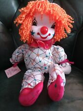 Vtg.Clown Doll Wind Up Musical Plays and Head Moves Around . Hand-Crafted Nib