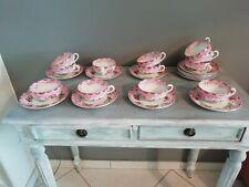 12 tasses et sous tasses ancienne en faïence Sarreguemines Minton
