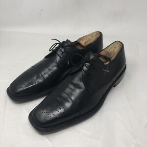 Mezlan Mens Oxford Derby Shoes US 10 M Black Leather Made In Spain