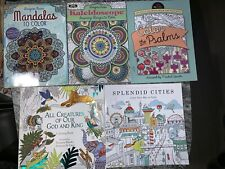Adult Coloring Book Lot 5