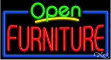 Furniture Open Handcrafted Energy Efficient Glasstube Neon Signs