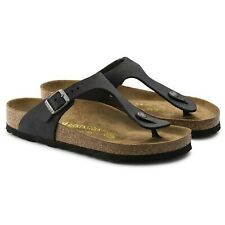 Authentic women's Birkenstock Gizeh Black Oiled Leather 36 Regular 5 5.5 6
