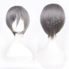 HELLOJF1446 short new style fashion cosplay straight dark gray hair Wig wigs