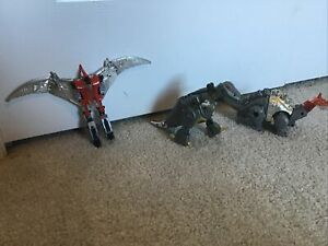 Vintage 1980s Transformers G1 Dinobot SWOOP GRIMLOCK Figures, With Bonus Mystery