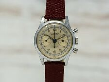 Vintage Original Lemania Wakmann Double Signed Chronograph - Fully Serviced!