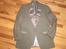 Vtg CHRISTIAN DIOR 43L Atomic Gray Tuxedo Evening Dinner 1-Button Jacket Blazer