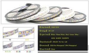 SMD 5050 RGB LED Strip Waterproof 5M 300LED DC 12V RGBW RGBWW LED Light Strips