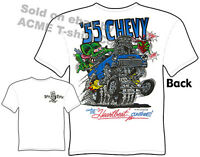 55 Chevy Rat Fink T Shirt Hot Rod Clothes Ed Big Daddy 1955 Chevrolet Gasser Tee