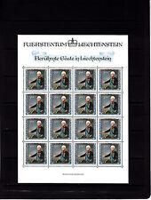 Liechtenstein portraits de visiteurs 40r feuille 16 TP n° 780