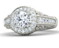 1.60 Ct Brilliant Cut Solitaire Diamond Engagement Ring Solid 14k White Gold