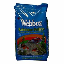 Webbox Rainbow Pellets Floating KOI CARP & All Pond Fish Food - Multi-pack deals