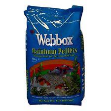 Webbox Rainbow Pellets Floating KOI CARP & All Pond Fish Food - Multi-pack deals